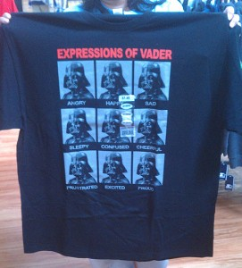A 2x Darth Vader shirt I can't buy and enjoy! GRRR!